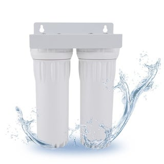 Dual Whole Home Water Purifier With Filters Water Contaminants Treatment - White