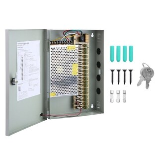 12VDC 18 Output Security Camera Power Box Centralized Power Supply Box 20A - Light grey