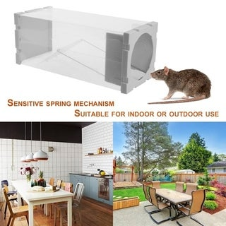 Mice Live Trap Rat Cage Catcher Humane Mouse Trap Reusable Rodent Cage - White