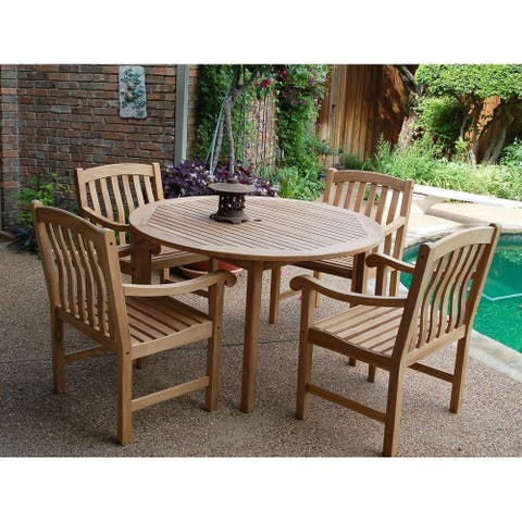 Leon 5-piece Teak Dining Set by Havenside Home