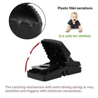 6 PCS Mouse Traps High Sensitive Rodent Catcher Reusable Plastic Mice Catcher - Black