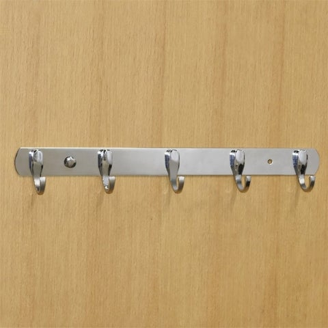 5 Wall Hangers Stainless Hooks Coat Hat Clothes Robe Holder Hook Rack Mounted