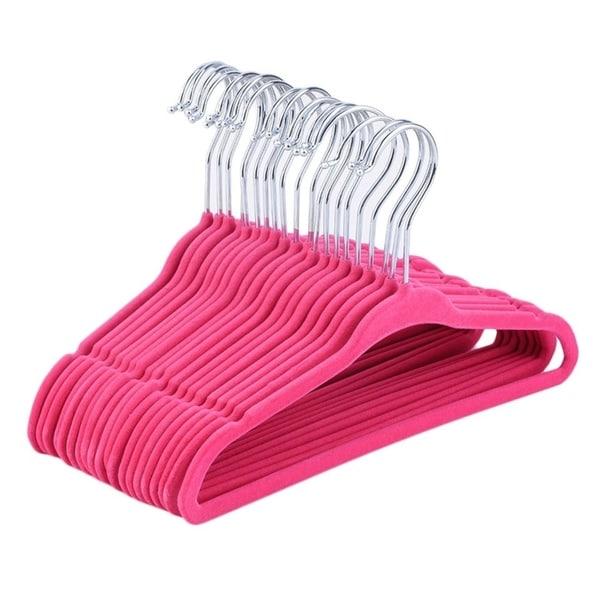 20pcs Non-Slip Kids Flock Coat Hangers Clothes Hangers Child Hanging Rack