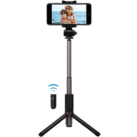 Mpow Bluetooth Selfie Stick, Bluetooth Monopod with Foldable Tripod Stand and Remote Control