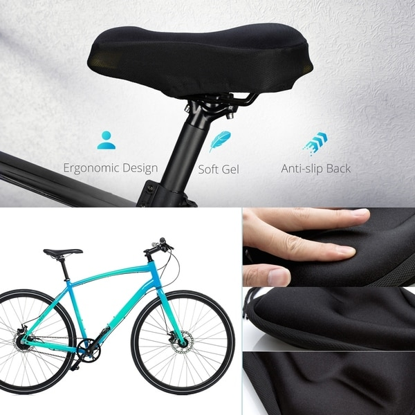 Bicycle Seat Cushion Silicone Soft Bike Saddle Comfortable Waterproof Cover Pad