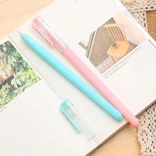 0.38mm Black Ink Pens Ballpoint Pen Office School Supplies Plastic Pens