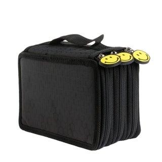 Zipper Pencil Bag Multilayer 52 Holes Pencilcase Office School Stationery