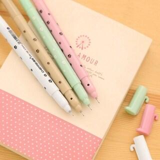 Kawaii Cartoon Cat Pen 0.5MM Black Ink Gel Pen Ballpoint Pen for Writing