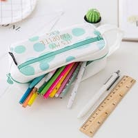 Students School Pencil Bag Pencil Pouch Office Stationery Canvas Pencil Case - Green