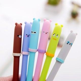0.5MM Animal Cute Students Office Plastic Ballpoint Pen School Stationery