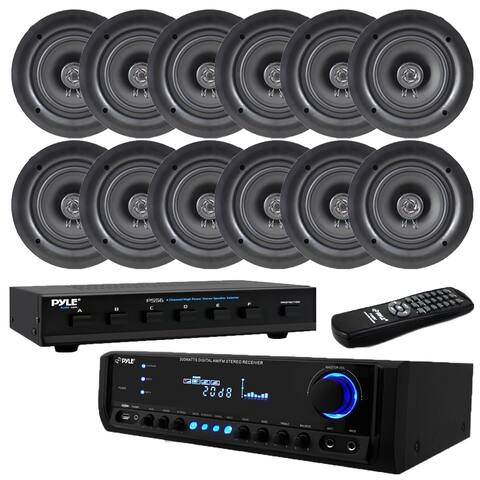 """300W Digital Home Theater Receiver System(12) 5.25"""" Ceiling Selector"""