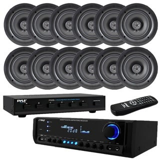 "300W Digital Home Theater Receiver System(12) 5.25"" Ceiling Selector"