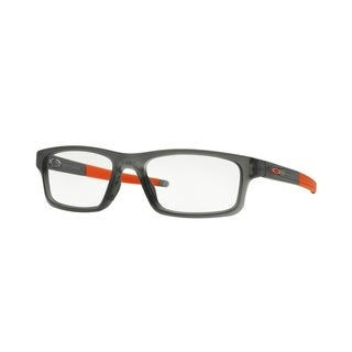 Oakley Crosslink Patch OX8037 Men Transparent Gray/Red Eyeglasses