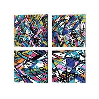 Rick Novak 'Abstract' Canvas Art (Set of 4)