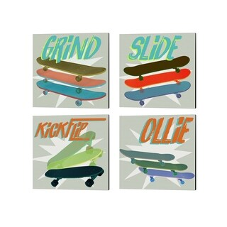 Jarman Fagalde 'SK8R' Canvas Art (Set of 4)