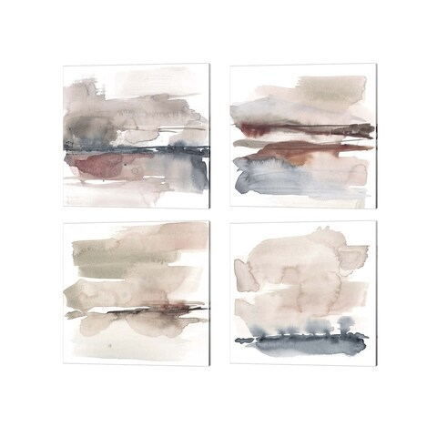 Jennifer Goldberger 'Earth Horizon B' Canvas Art (Set of 4)