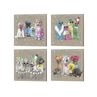 Hammond Gower 'Fancypants Wacky Dogs' Canvas Art (Set of 4)