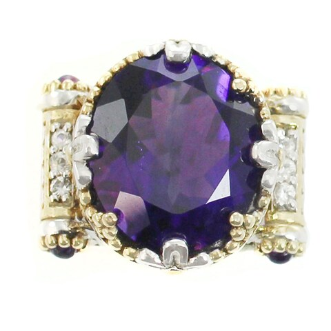 Michael Valitutti Palladium Silver Amethyst Charm - Purple