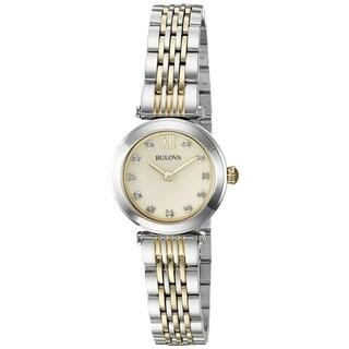 Bulova Women's Two tone Diamond Accent Watch - Two-tone