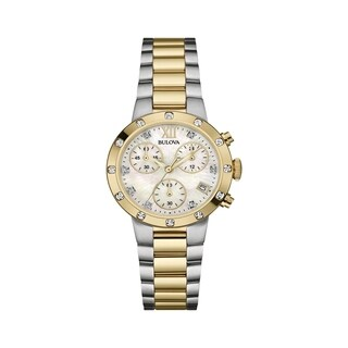 Bulova Women's Chronograph Diamond Accent Watch - Two-tone