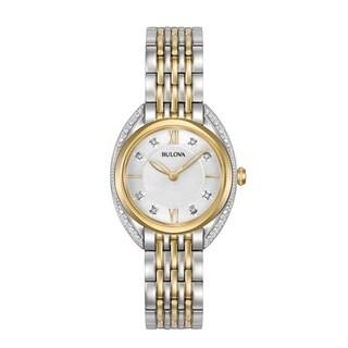 Bulova Women's 98R229 Two-tone Diamond Accent Bracelet Watch