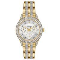 Bulova Women's Crystal Acccent Goldtone Watch