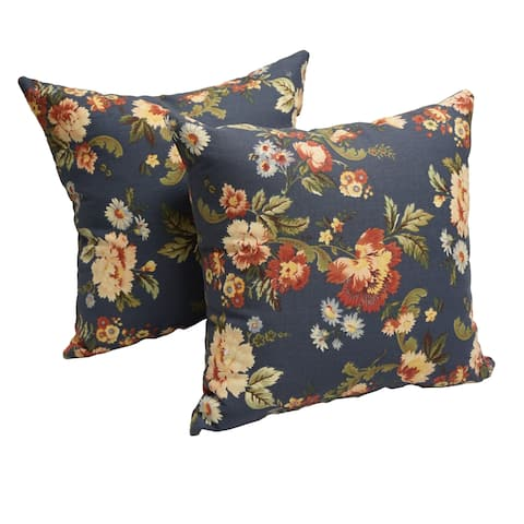 Royal Bloom 17-inch Accent Throw Pillow (Set of 2)