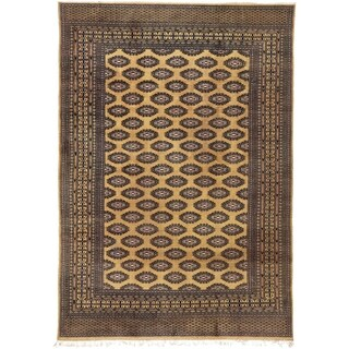 Hand Knotted Afghan Akhche Wool Area Rug - 8' 3 x 11' 11