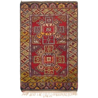 Hand Knotted Anatolian Semi Antique Wool Area Rug - 4' 2 x 6' 9