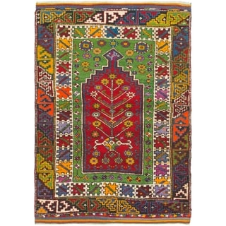 Hand Knotted Anatolian Wool Area Rug - 3' 8 x 5'