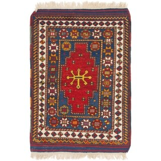 Hand Knotted Anatolian Wool Area Rug - 3' 8 x 5' 4