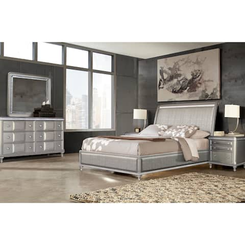 Buy King Size Sleigh Bed, Glam Bedroom Sets Online at ...