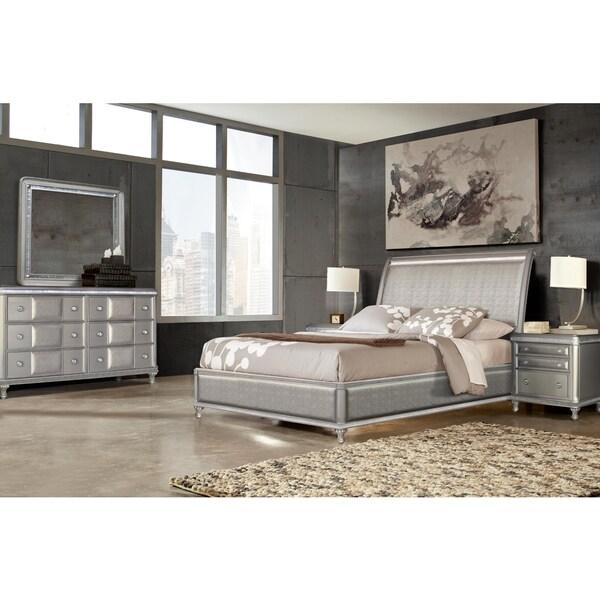 Greyson Living Laguna Antique White Panel Bed 6piece: Shop Metro Glam 6-piece Bedroom Set By Greyson Living