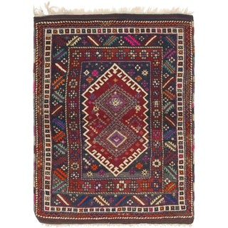 Hand Knotted Anatolian Semi Antique Wool Area Rug - 4' x 5' 5