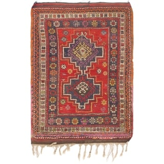 Hand Knotted Anatolian Semi Antique Wool Area Rug - 3' 9 x 5' 5