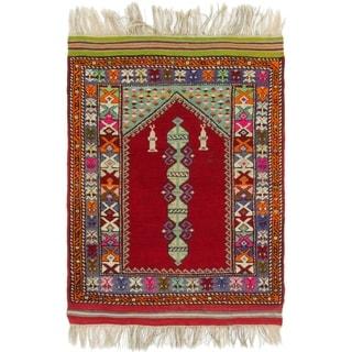 Hand Knotted Anatolian Wool Area Rug - 3' 5 x 4' 9