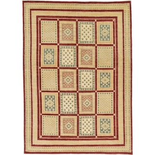 Hand Knotted Ariana Ziegler Wool Area Rug - 5' 6 x 7' 8