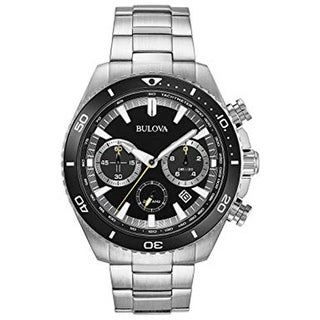 Bulova Men's 98B298 Chronograph SilverTone Bracelet Watch