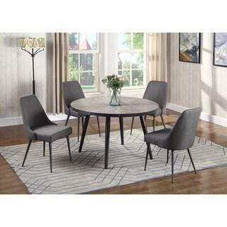 Best Master Furniture 5 Pieces Round Living Dinette Set