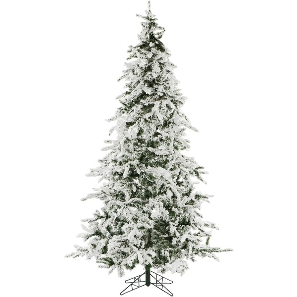 Christmas Time 7.5-Ft. White Pine Snowy Artificial Christmas Tree - Shop Christmas Time 7.5-Ft. White Pine Snowy Artificial Christmas