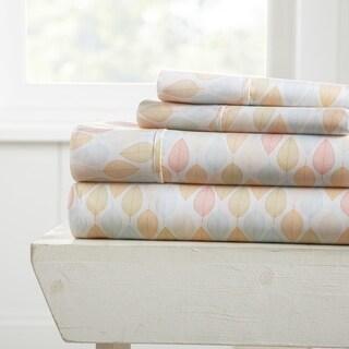 Merit Linens Premium Ultra Soft Fall Foliage Pattern 4 Piece Bed Sheet Set