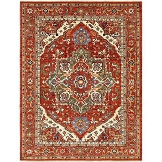 Hand Knotted Ariana Ziegler Wool Area Rug - 9' x 11' 10