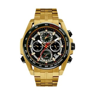 Bulova Men's 98B271 Chronograph Goldtone Bracelet Watch