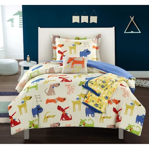 Chic Home Furbabies 5 Piece Puppy Theme Youth Design Comforter Set