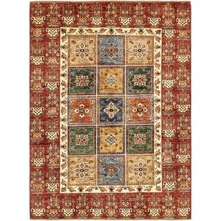 Hand Knotted Ariana Ziegler Wool Area Rug - 5' 10 x 7' 10