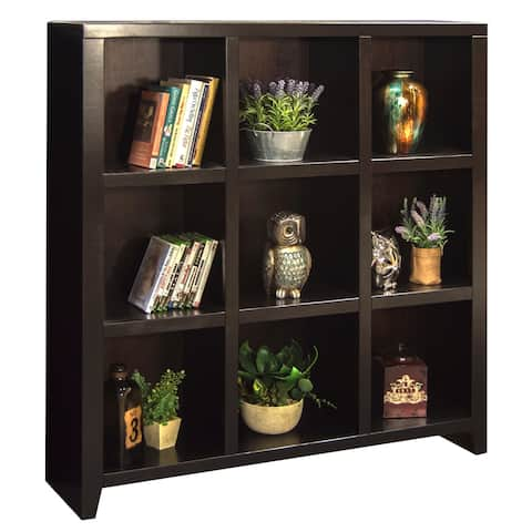 Copper Grove Deuil Mocha Wood 9-cubicle Bookcase