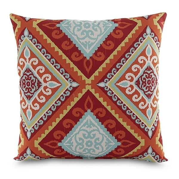 Shop Terrasol Spanish Tile Red Orange Outdoor Throw Pillow Free
