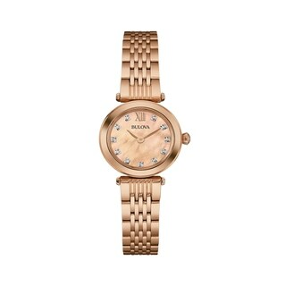 Bulova Women's Diamond Rosegold Watch
