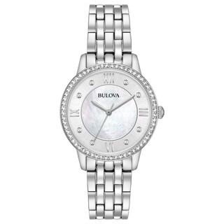Bulova Women's Watch and Earrings Box Set - silver