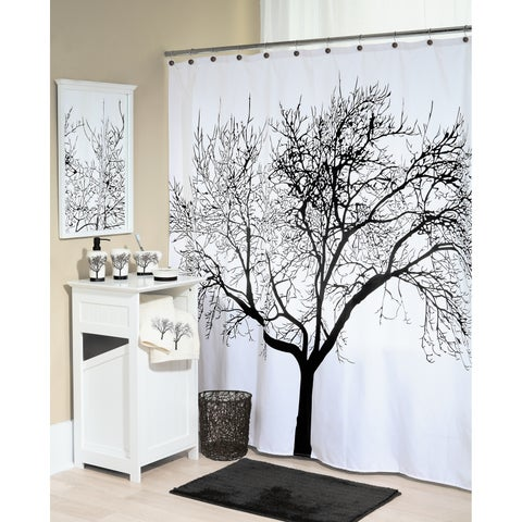 "Splash Home Tree Polyester Fabric Shower Curtain, 70"" x 72"""